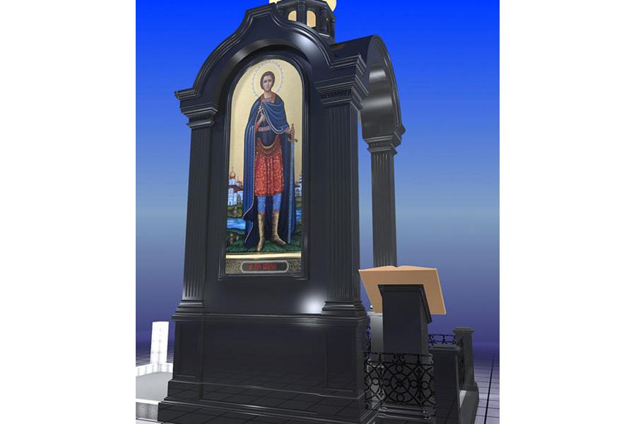 Эконом памятник Арка с резным профилем Балтийск надгробие в виде ангела плачущего