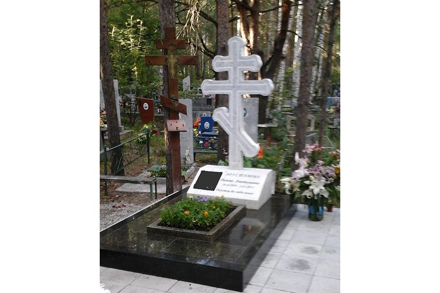 Заказ памятника на кладбище Реж Мемориальный комплекс с арками и колонной Камызяк